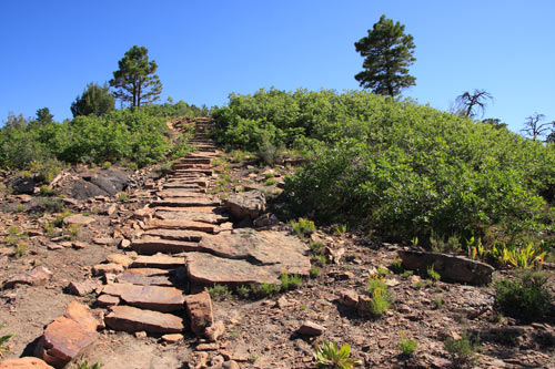 Steps made of stones on the Overlook trail
